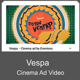 Vespa Cinema Ad Video